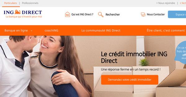 Le crédit immobilier ING Direct plus intéressant pour les clients